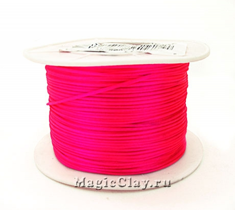 Шнур нейлоновый 1мм Розовый Яркий, 1 катушка (~91метр)