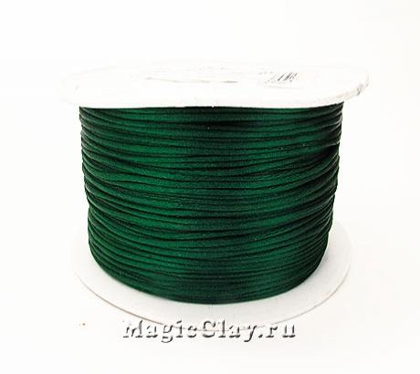 Шнур нейлоновый 1мм Зеленый Темный, 1 катушка (~91метр)
