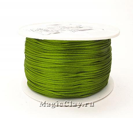 Шнур нейлоновый 1мм Зеленый Лиственный, 1 катушка (~91метр)