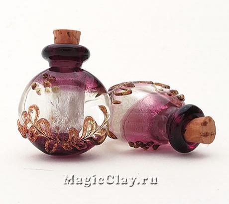 Бутылочка муранское стекло, Черничный Морс