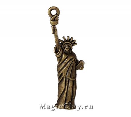 Подвеска Статуя Свободы 48х20мм, цвет бронза, 1шт