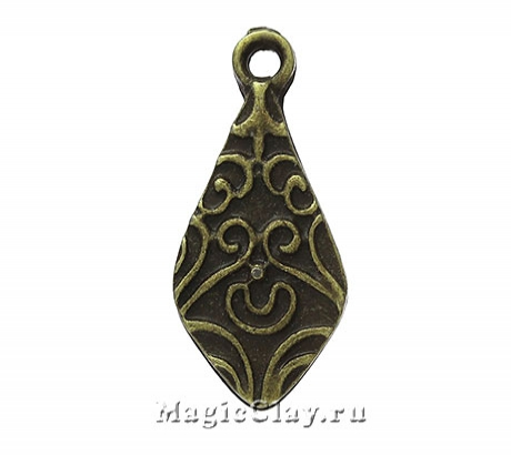 Подвеска Левант 22х10мм, цвет античная бронза, 1шт