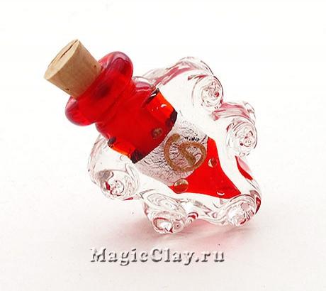 Бутылочка муранское стекло, Клубничное Настроение