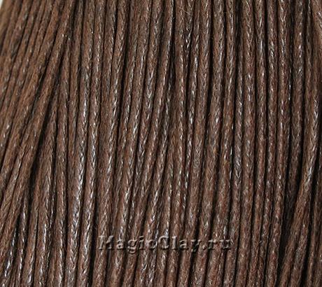 Шнур вощеный 1мм Коричневый Тёмный, 1 связка (~70метров)