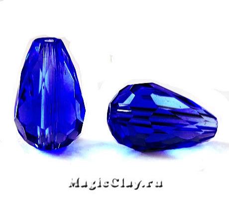 Бусины Капля Сапфир Синий 15х10мм, 10шт