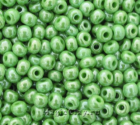 Бисер чешский 10/0 Непрозрачный, 58230 Light Green, 41гр