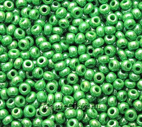 Бисер чешский 10/0 Непрозрачный, 58250 Medium Green, 41гр