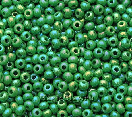 Бисер чешский 10/0 Непрозрачный, 54250 Medium Green, 41гр