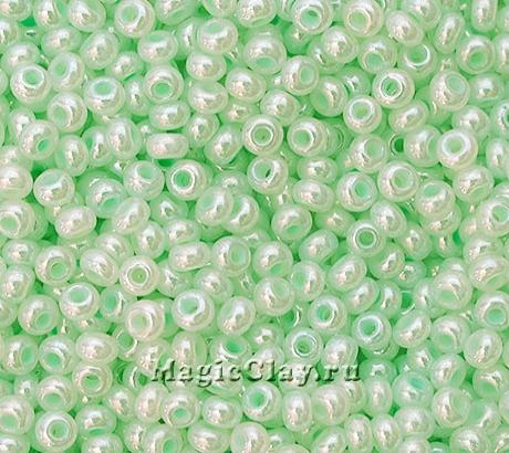 Бисер чешский 10/0 Алебастр, 37152 Pearl Pale Green, 41гр