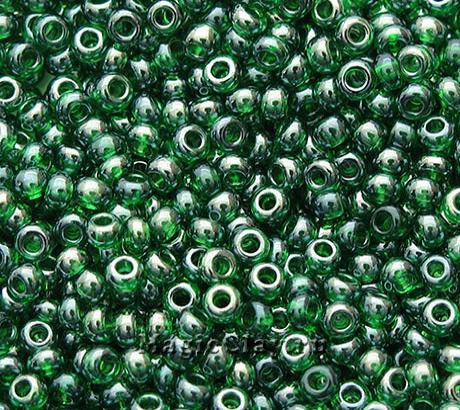 Бисер чешский 10/0 Прозрачный, 56120 Chrysolite, 41гр