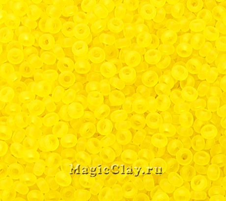 Бисер чешский 10/0 Прозрачный, 80010matt Yellow, 41гр