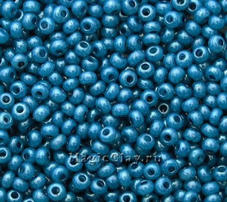 Бисер чешский 10/0 Алебастр, 17336 Blue, 41гр