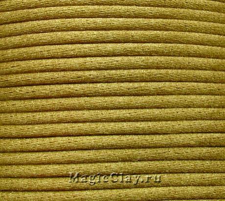 Шнур нейлоновый 2мм Античное Золото, 30 метров