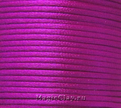 Шнур нейлоновый 2мм Маджента, 30 метров
