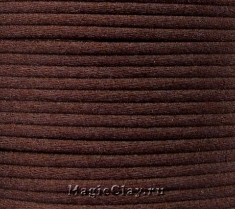 Шнур нейлоновый 2мм Шоколадный, 30 метров
