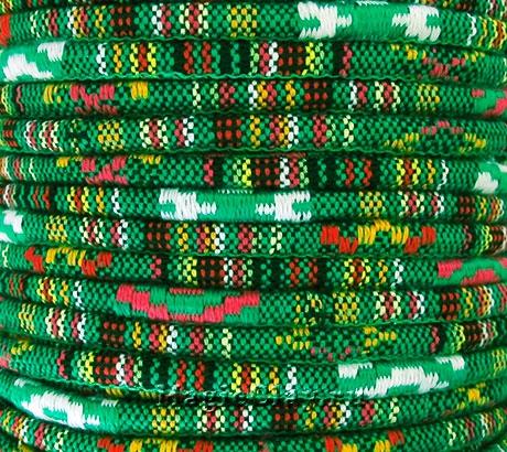 Шнур хлопковый 6мм Зелёные Поля, 1 метр