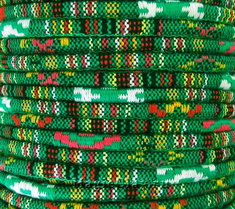 Шнур хлопковый 4мм Зелёные Поля, 1 метр