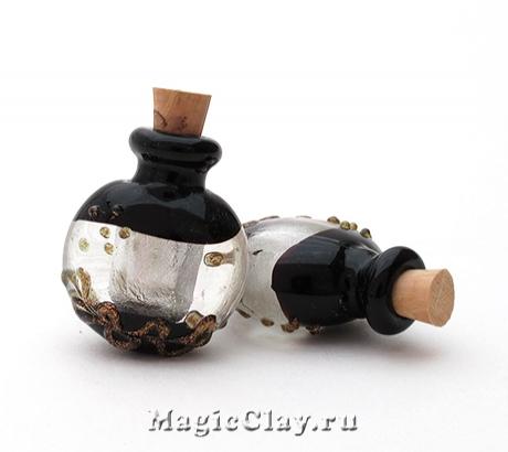 Бутылочка муранское стекло, Чёрная Жемчужина