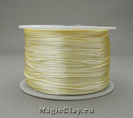 Шнур нейлоновый 1мм Желтый Светлый, 1 катушка (~91метр)