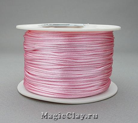 Шнур нейлоновый 1мм Розовый Светлый, 1 катушка (~91метр)