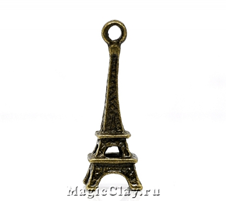 Подвеска Эйфелева Башня 24х9мм, цвет античная бронза, 1шт