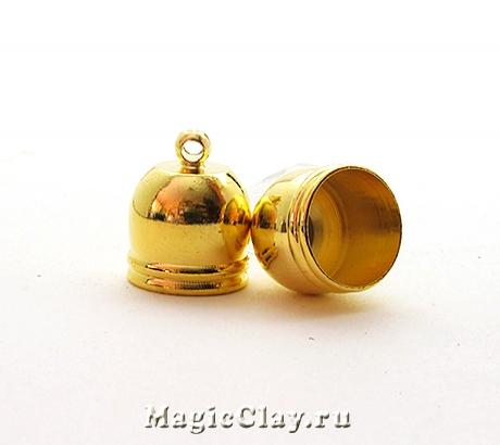 Концевик с ушком 14х12мм, цвет золото, 6шт