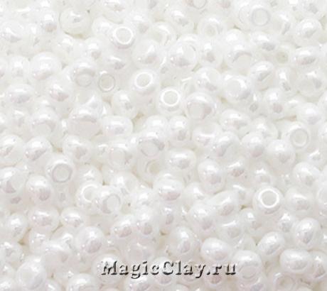 Бисер чешский 10/0 Непрозрачный, 46102 Chalk White, 50гр