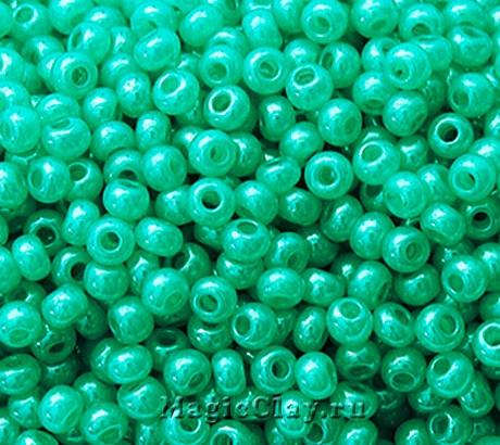 Бисер чешский 10/0 Алебастр, 17158 Turquoise Green, 41гр