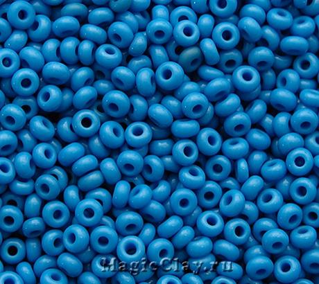 Бисер чешский 10/0 Непрозрачный, 63080 Blue, 41гр
