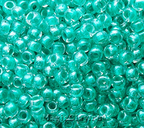 Бисер чешский 10/0 Кристалл, 38858 Turquoise Green, 41гр