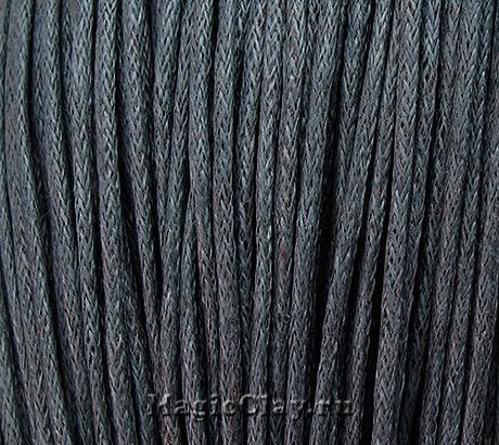 Шнур вощеный 1,5мм Серый, 1 связка (~80метров)