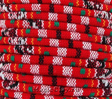 Шнур хлопковый 4мм Красная Заря, 1 метр