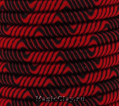 Шнур Кантри 5мм Красный, 1 метр