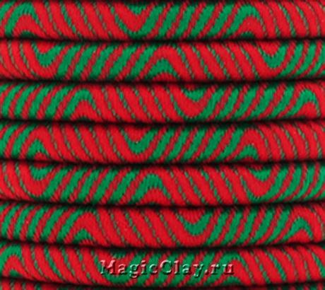 Шнур Кантри 5мм Зеленый, 1 метр