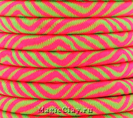 Шнур Кантри 5мм Розово-Салатовый, 1 метр
