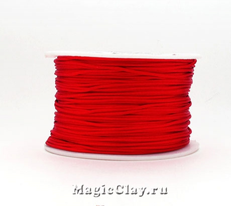 Шнур нейлоновый 1мм Красный, 1 катушка (~91метр)