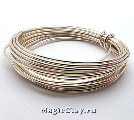 Проволока Craft Wire BeadSmith посеребренная 1,6мм