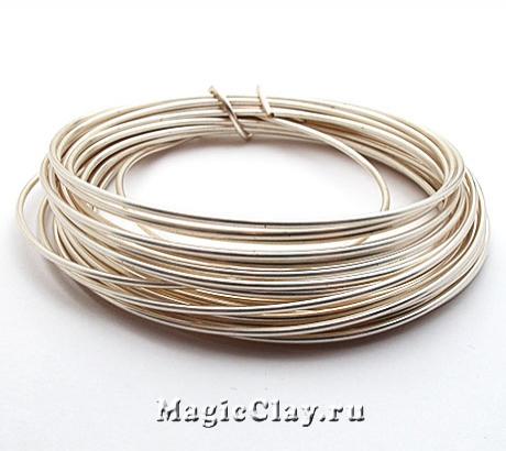 Проволока Craft Wire BeadSmith посеребренная 1,25мм