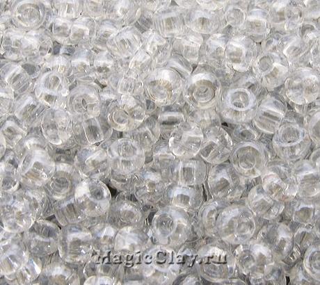 Бисер чешский 10/0 Прозрачный, 48102 Crystal, 41гр