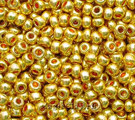 Бисер чешский 10/0 Металлик, 18388 Light Yellow, 41гр