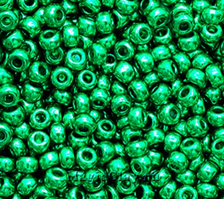 Бисер чешский 10/0 Металлик, 18358 Turquoise Green, 41гр