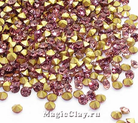 Стразы конусные для бижутерии SS12, цвет Аметист Светлый