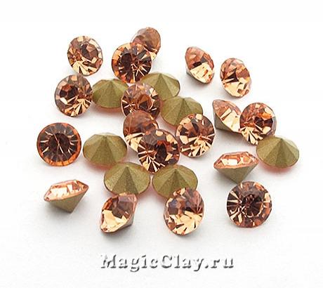 Стразы конусные для бижутерии SS28, цвет Светло-Персиковый
