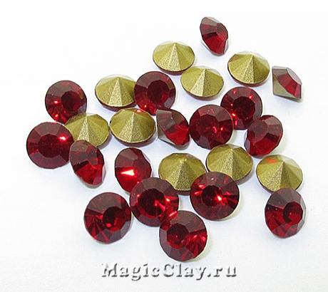 Стразы конусные для бижутерии SS28, цвет Рубиновый