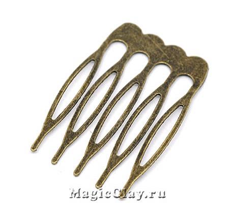 Основа для гребня Декор 39х26мм, цвет античная бронза, 1шт