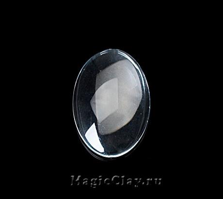 Кабошон Прозрачное стекло Овал 30х20мм, 5шт