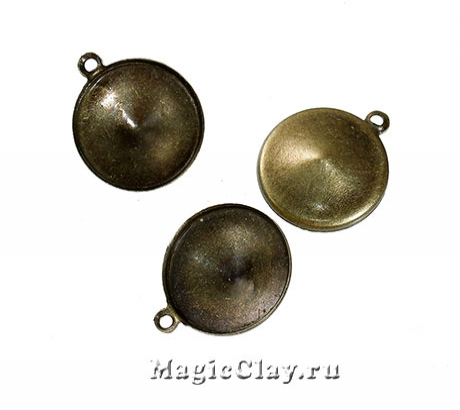 Основа для Риволи 14мм, цвет античная бронза