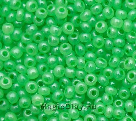 Бисер чешский 10/0 Алебастр, 17356 Green, 41гр