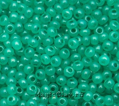 Бисер чешский 10/0 Алебастр, 17358 Turquoise Green, 41гр
