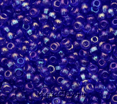 Бисер чешский 10/0 Прозрачный, 31030 Light Sapphire, 41гр